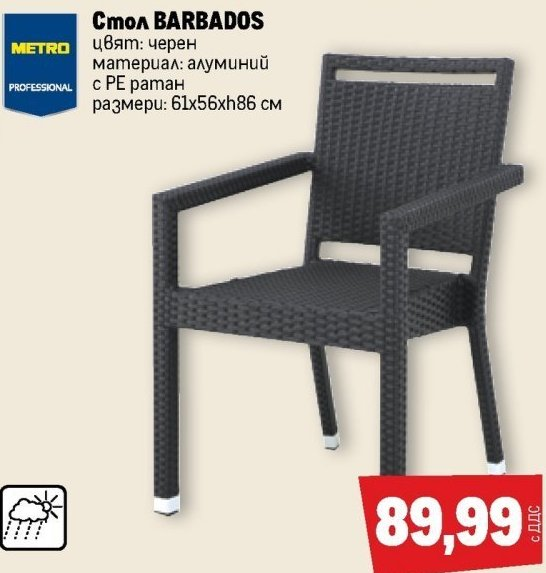 Градински стол в МЕТРО